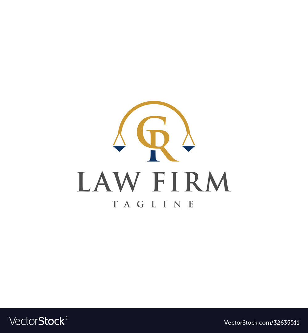 Cr law logo design