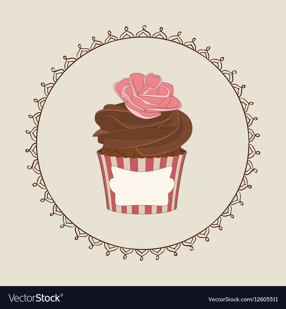 Cupcake and doodle frame
