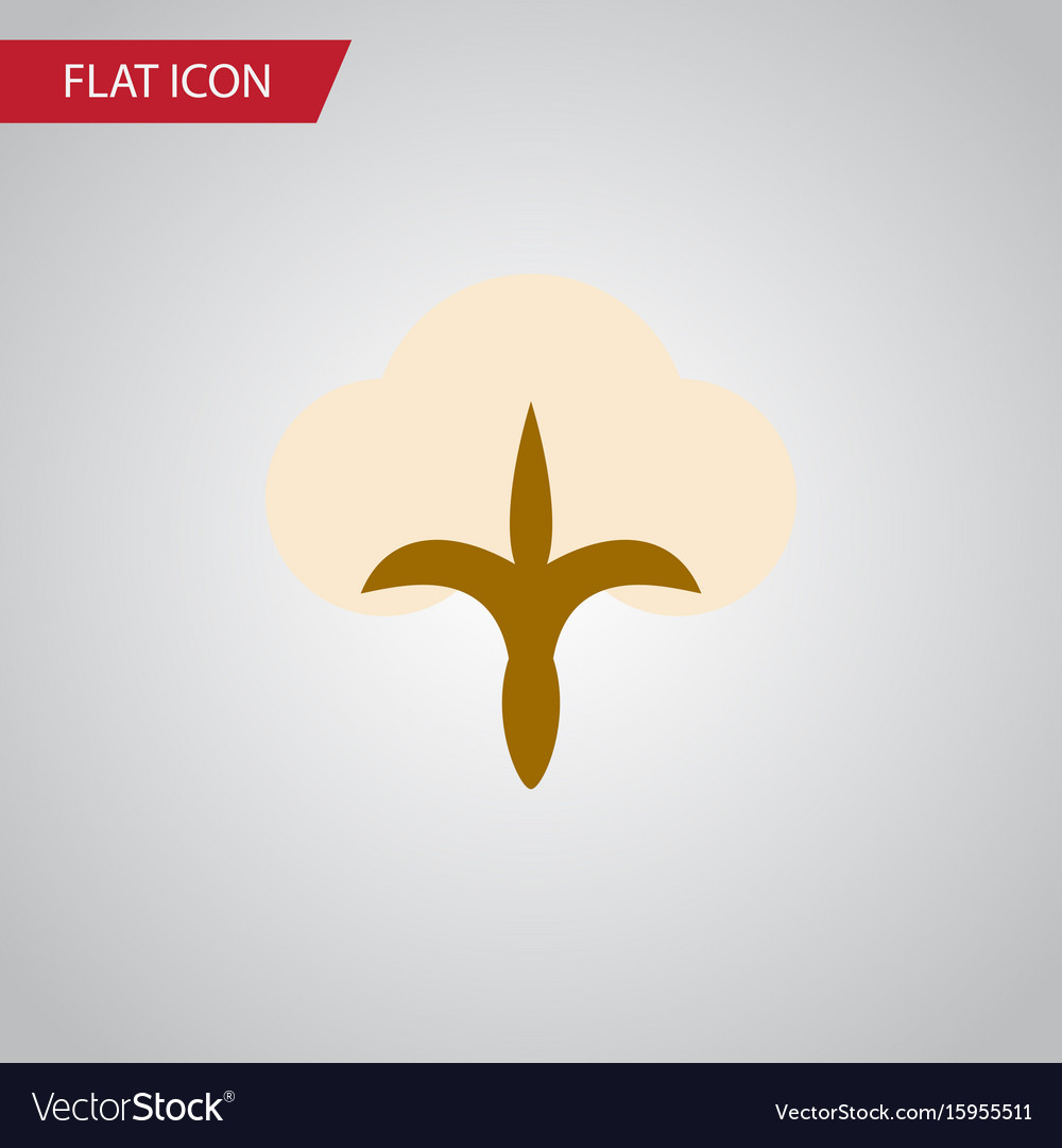 Isolated fiber flat icon fluffy element
