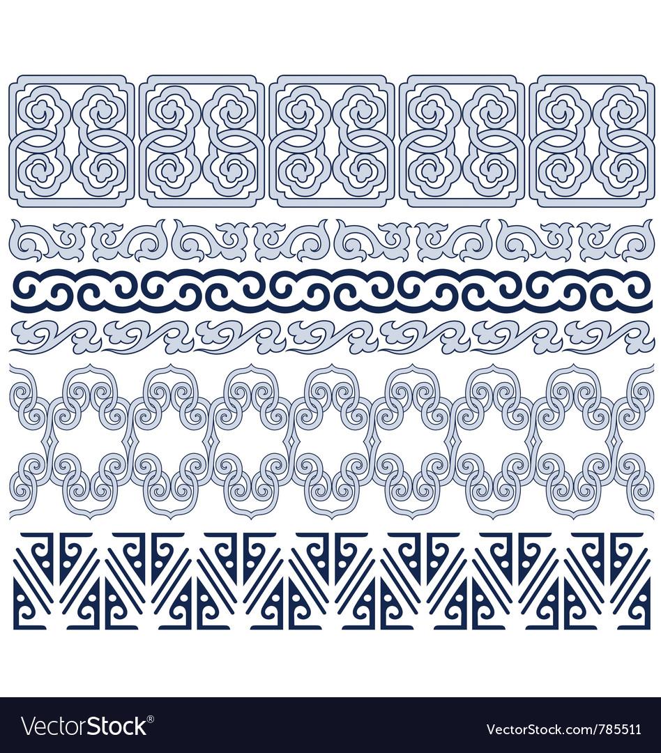 Oriental border vector image
