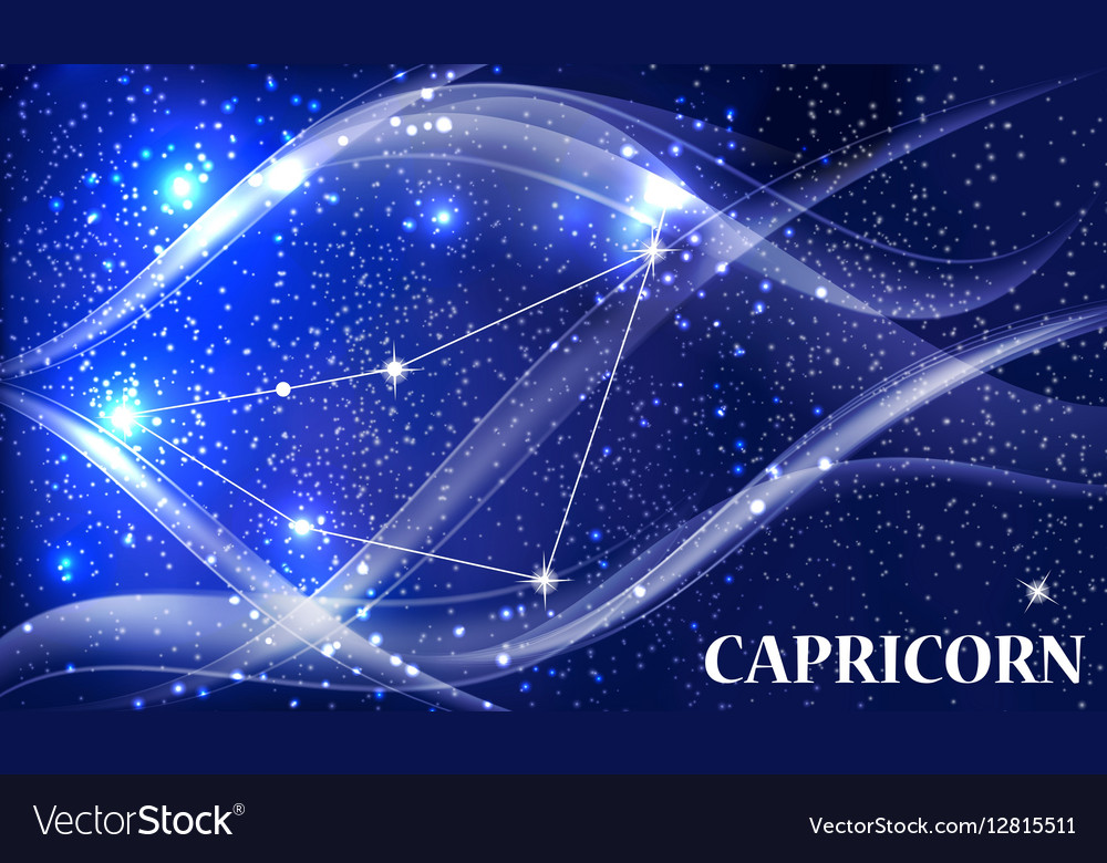 Symbol Capricorn Zodiac Sign Royalty Free Vector Image