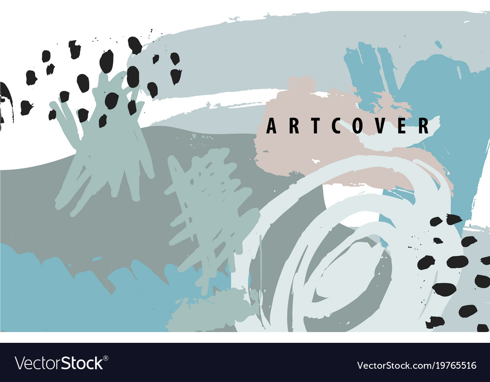 Abstract artistic poster card cover vector image