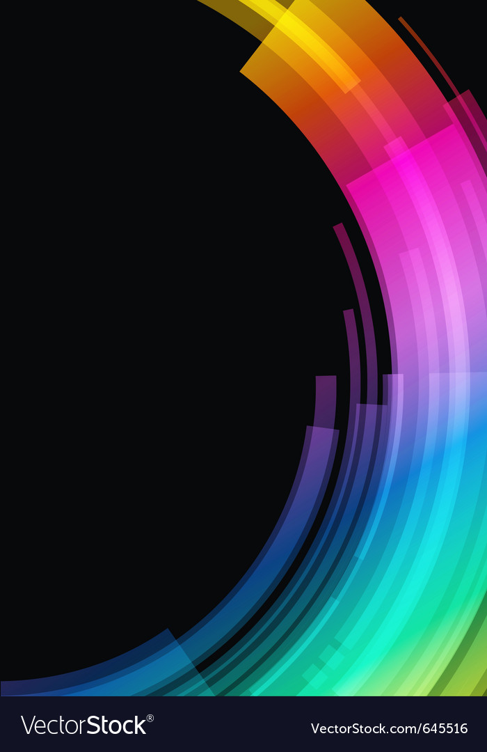 Abstract retro technology circles vector image