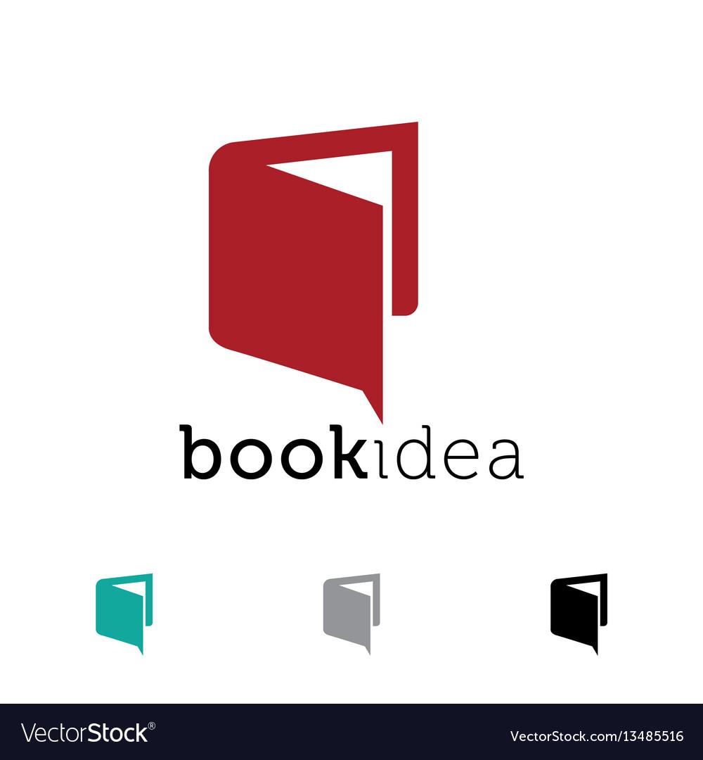 Book idea icon design