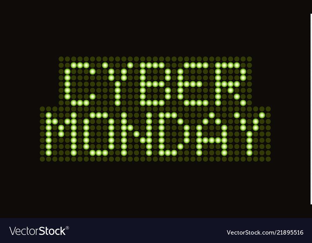 Cyber monday sale scoreboard font banner