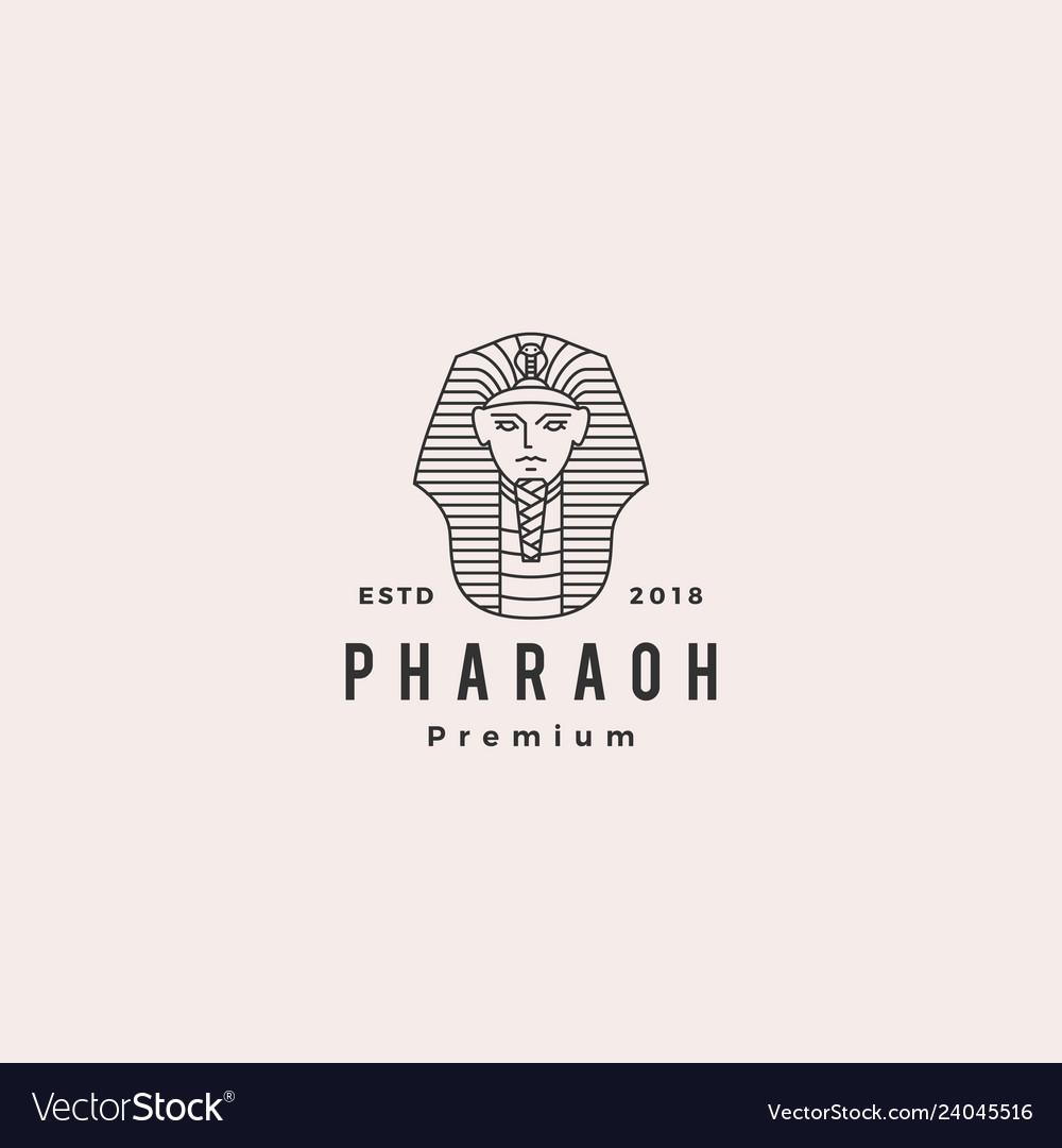 Pharaoh logo hipster retro vintage label