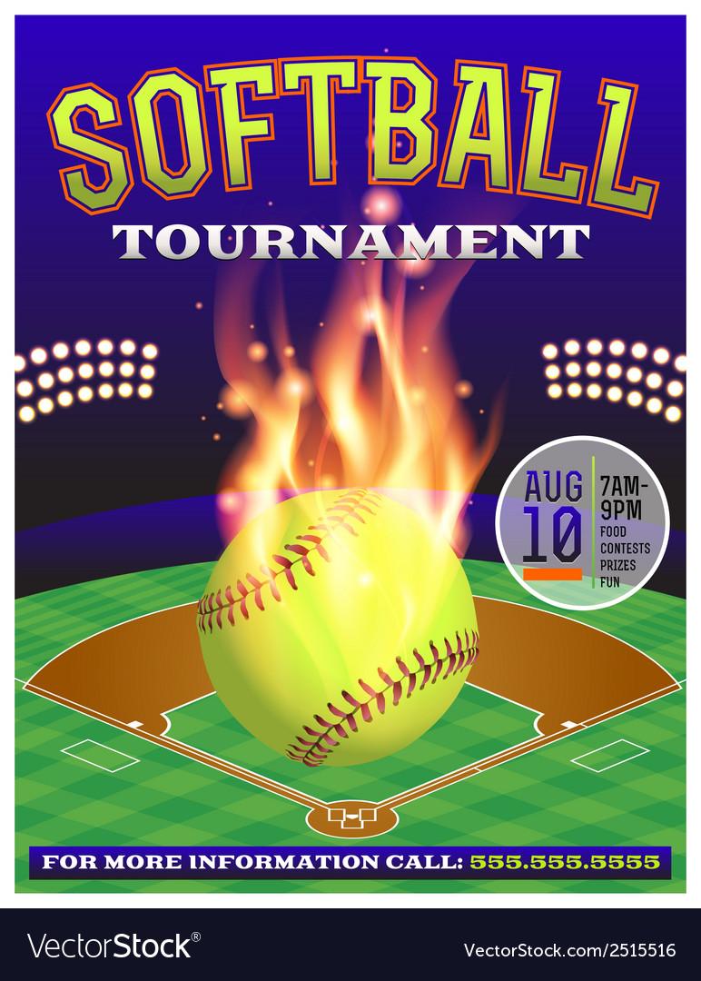 Softball Tournament Flyer