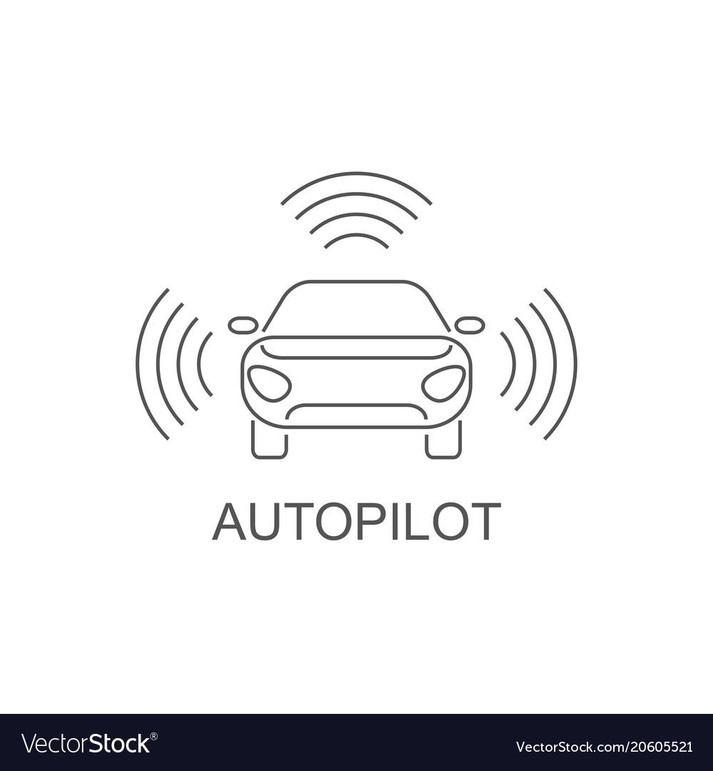 Autopilot icon simple element