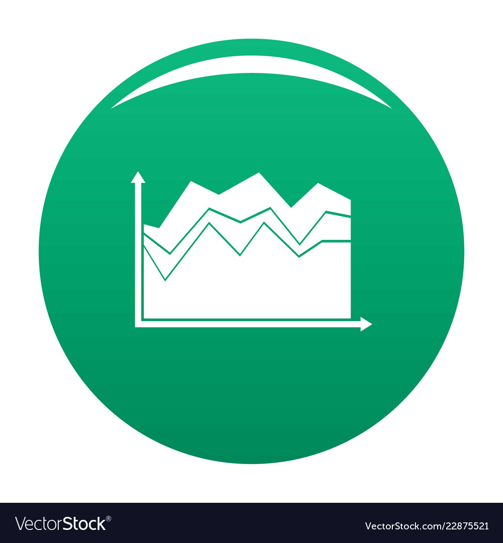 Business graph icon green