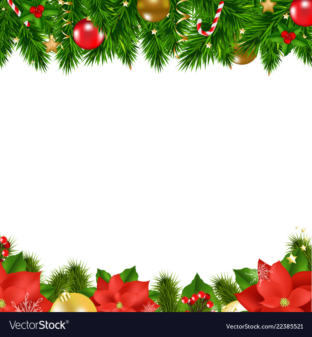 Christmas borders Royalty Free Vector