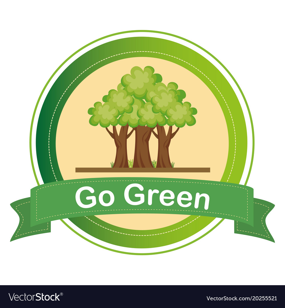 Go green tree plant