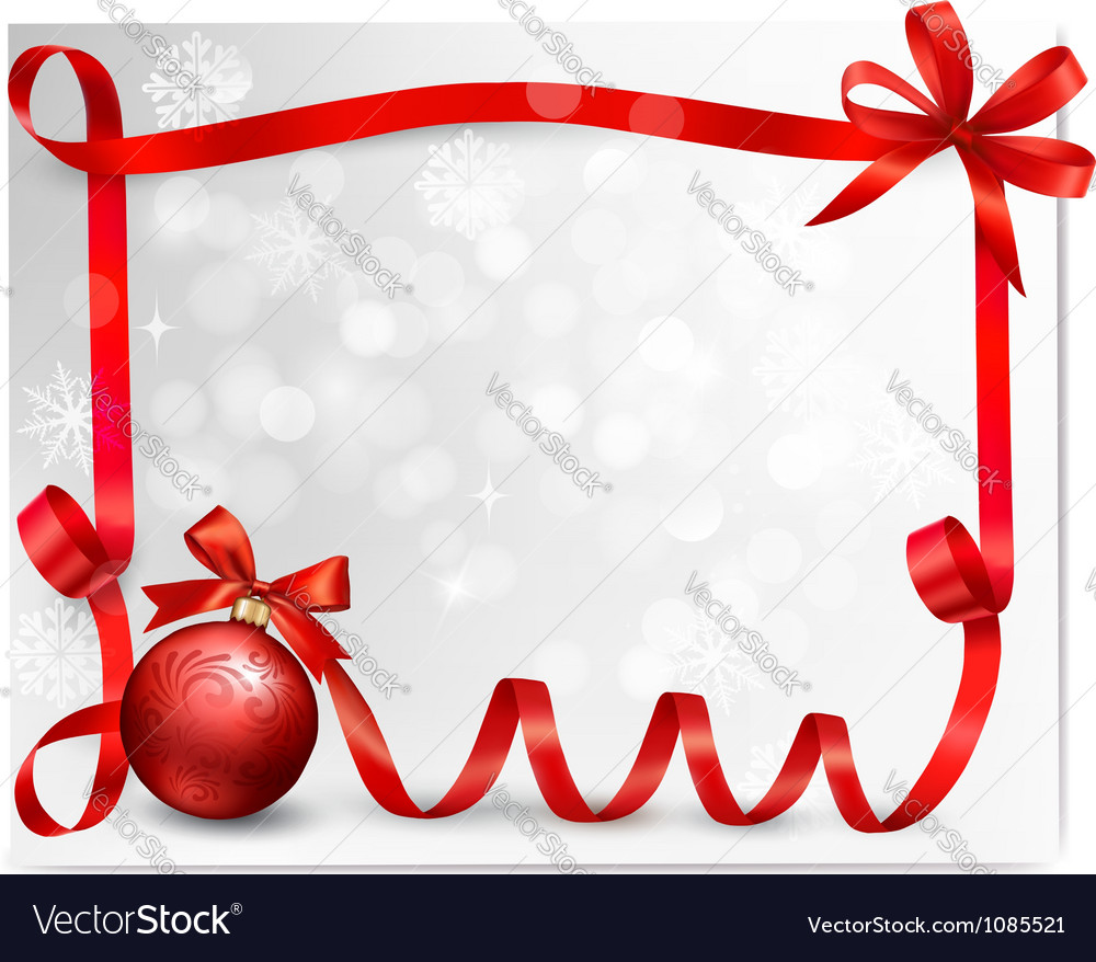 holiday ribbon background royalty free vector image
