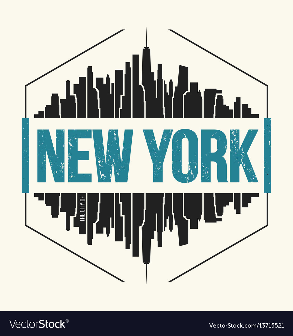 New York City Graphic T Shirt Design Tee Print Vector Image