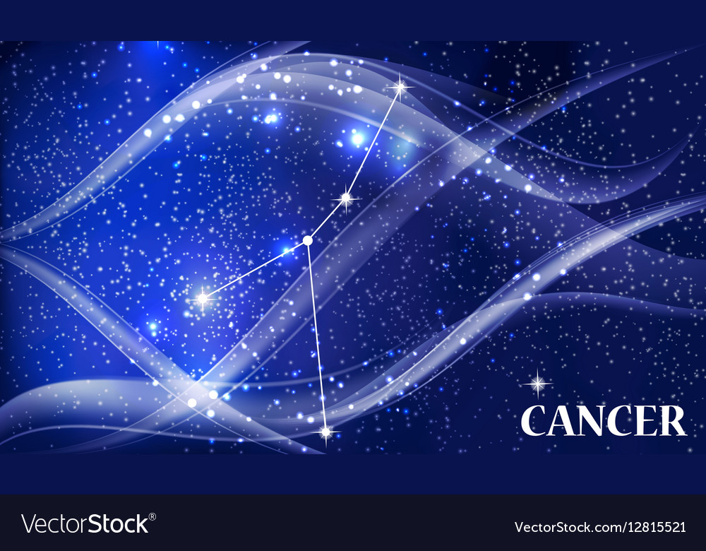 Symbol Cancer Zodiac Sign Royalty Free Vector Image