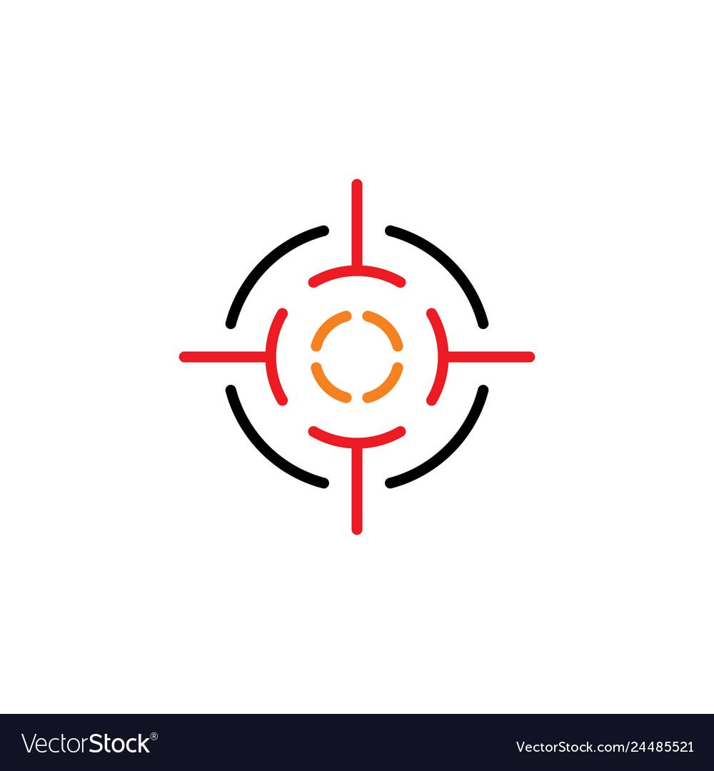 Target point icon logo sniper element