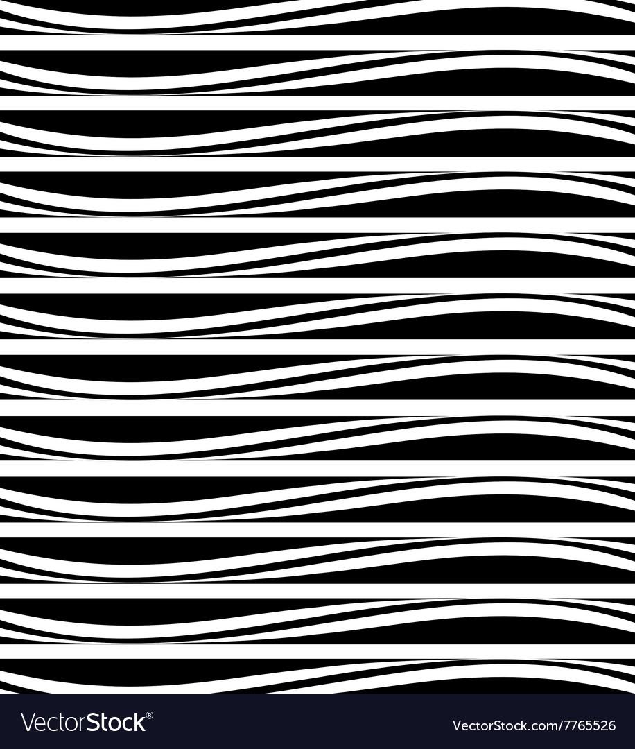 Background of black and white horizontal stripes