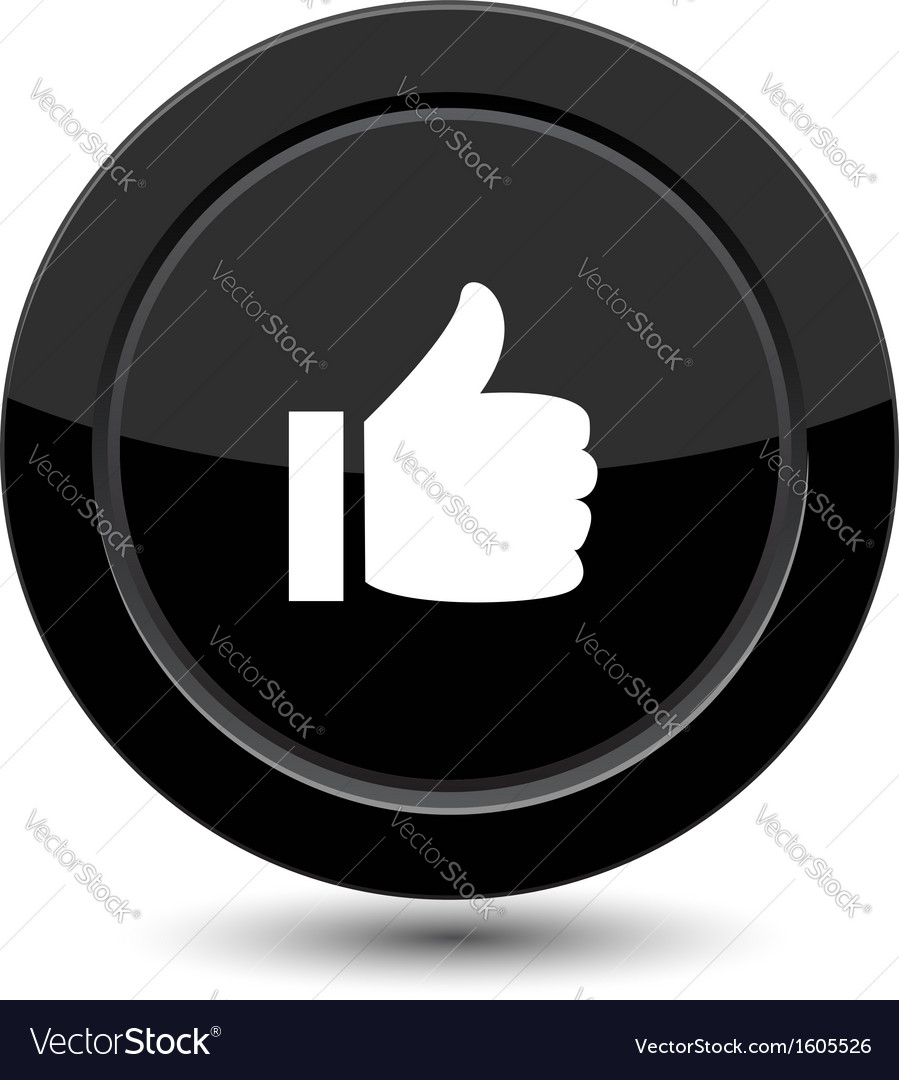 Button with yes sign