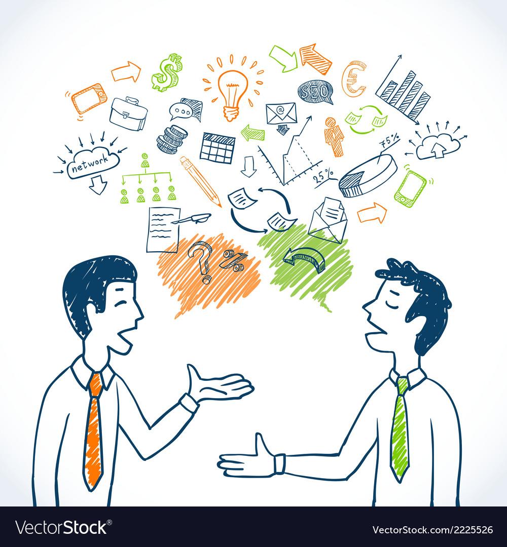 Doodle business conversation