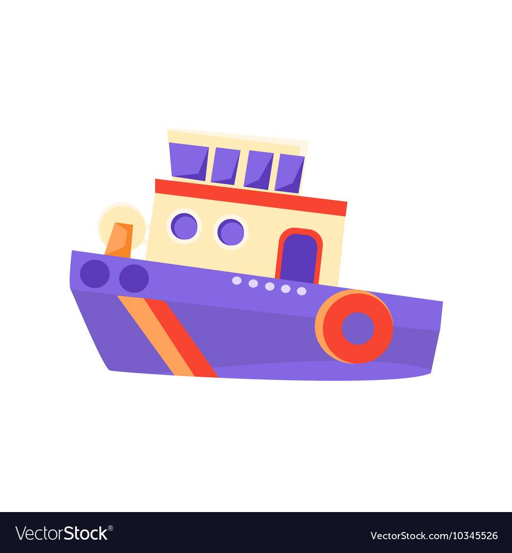 Partol Toy Boat vector image