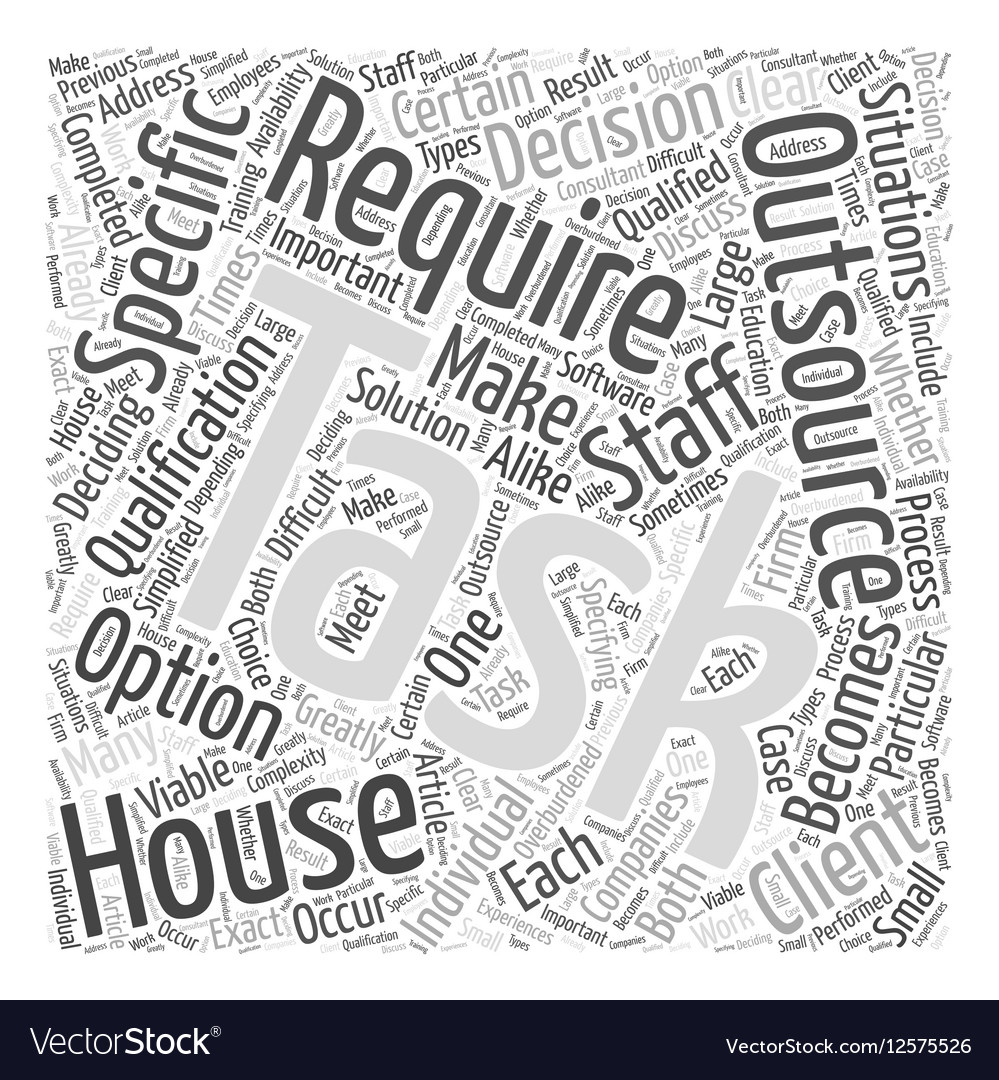 When Outsourcing Is The Only Option Word Cloud