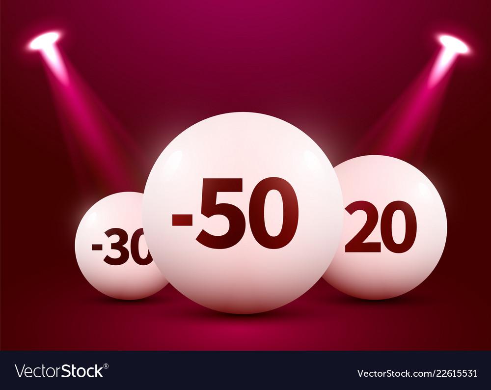 Abstract round podium with sale ball illuminated