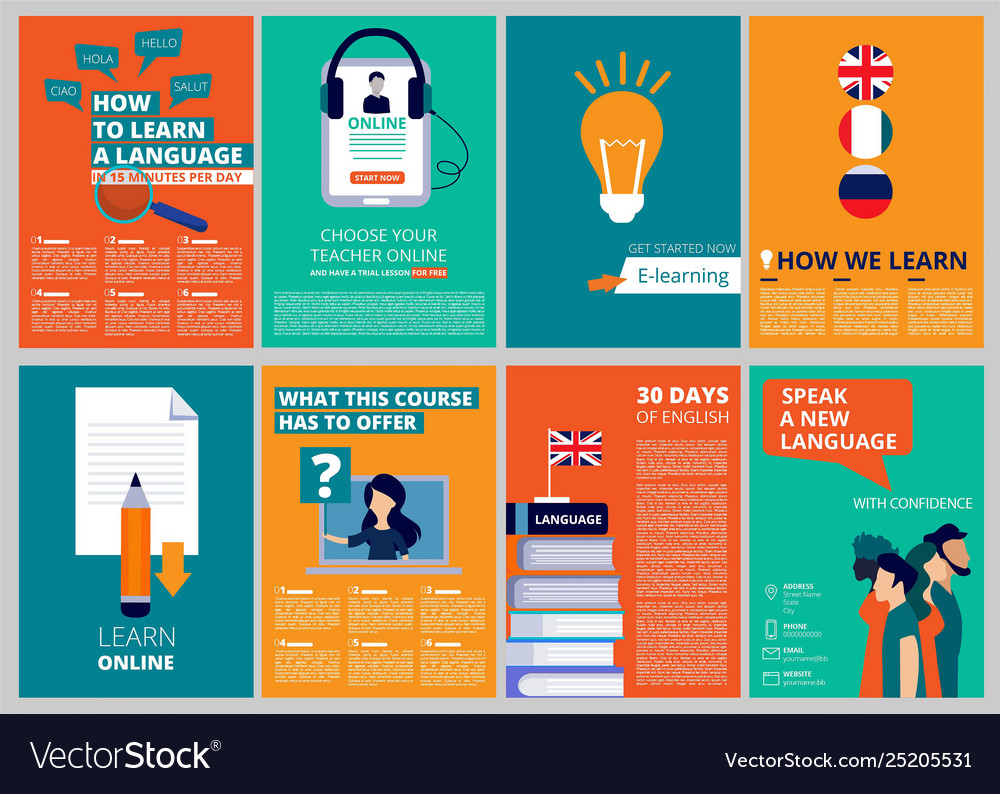 Education brochure covers training and courses