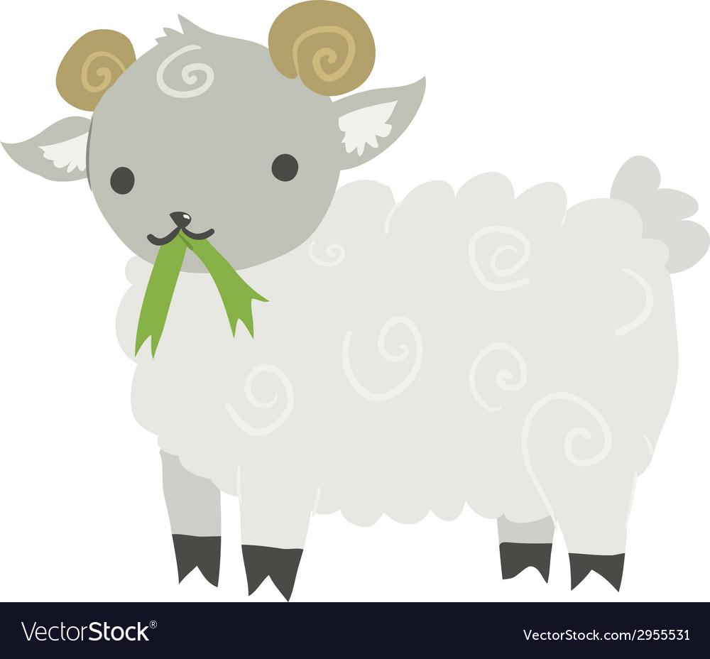 Funny cartoon sheep mascot