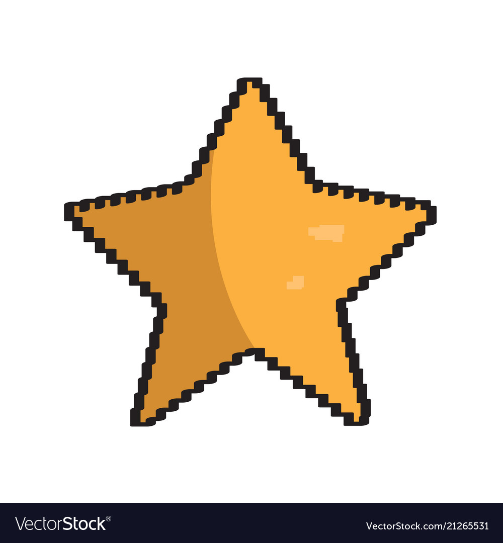 Isolated pixelated star icon