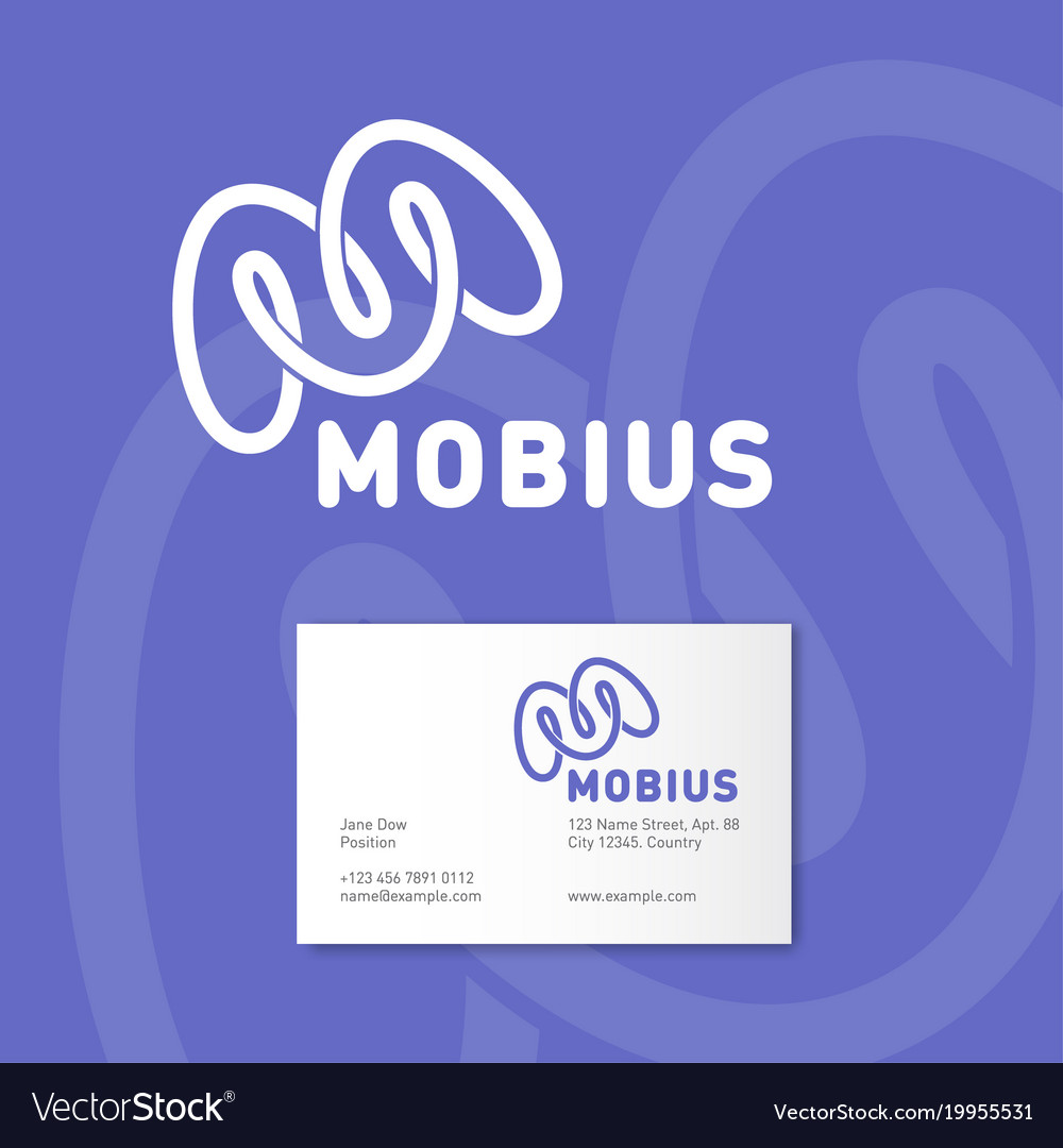 M monogram mobius logo identity