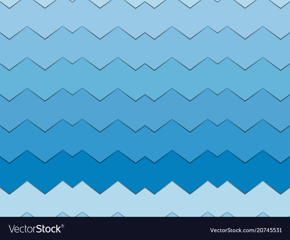 Modern material design background zigzag seamless vector image
