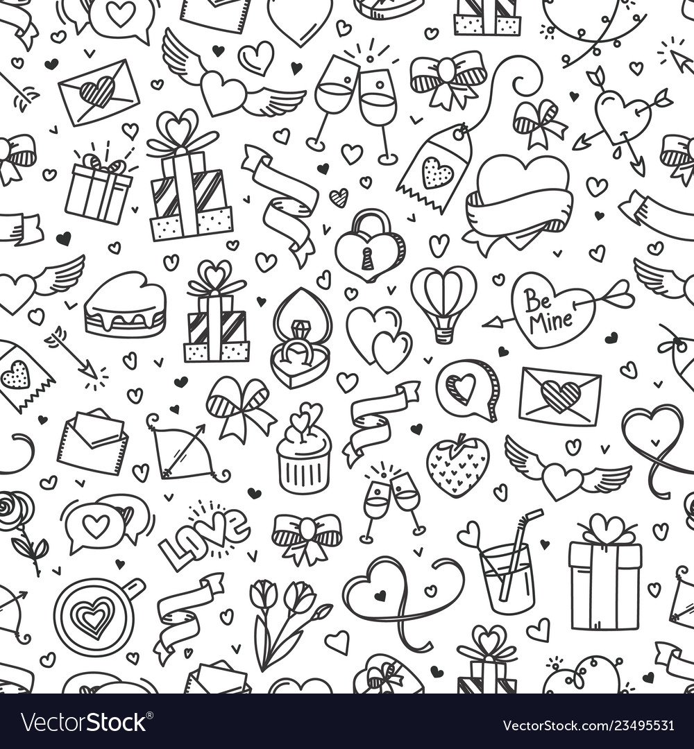 Valintaines day seamless pattern valentines day
