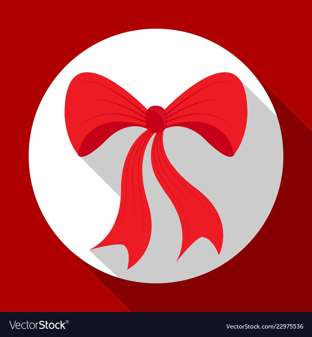 Christmas bell icon on red background with long