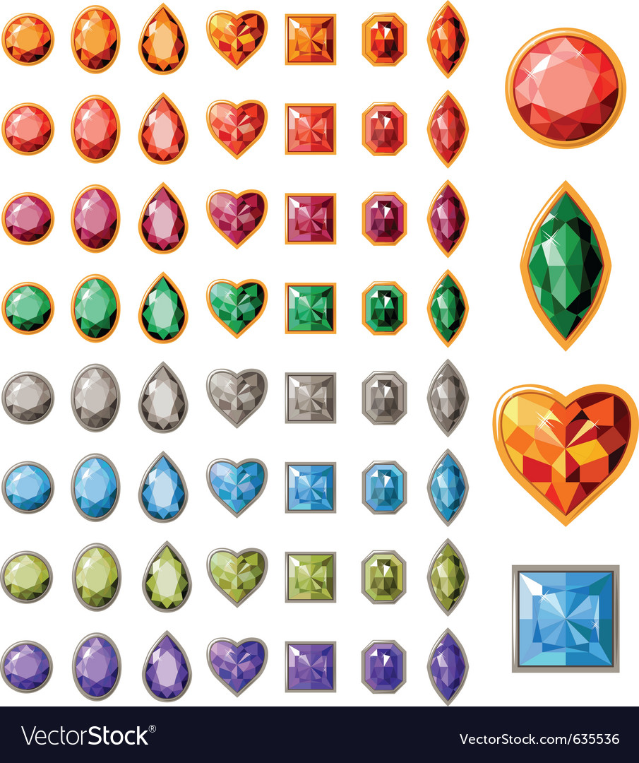 Collection of different jewels