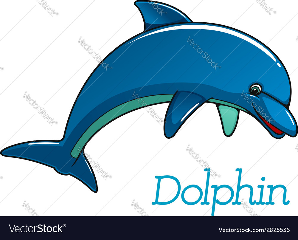 Cute cartoon dolphin character