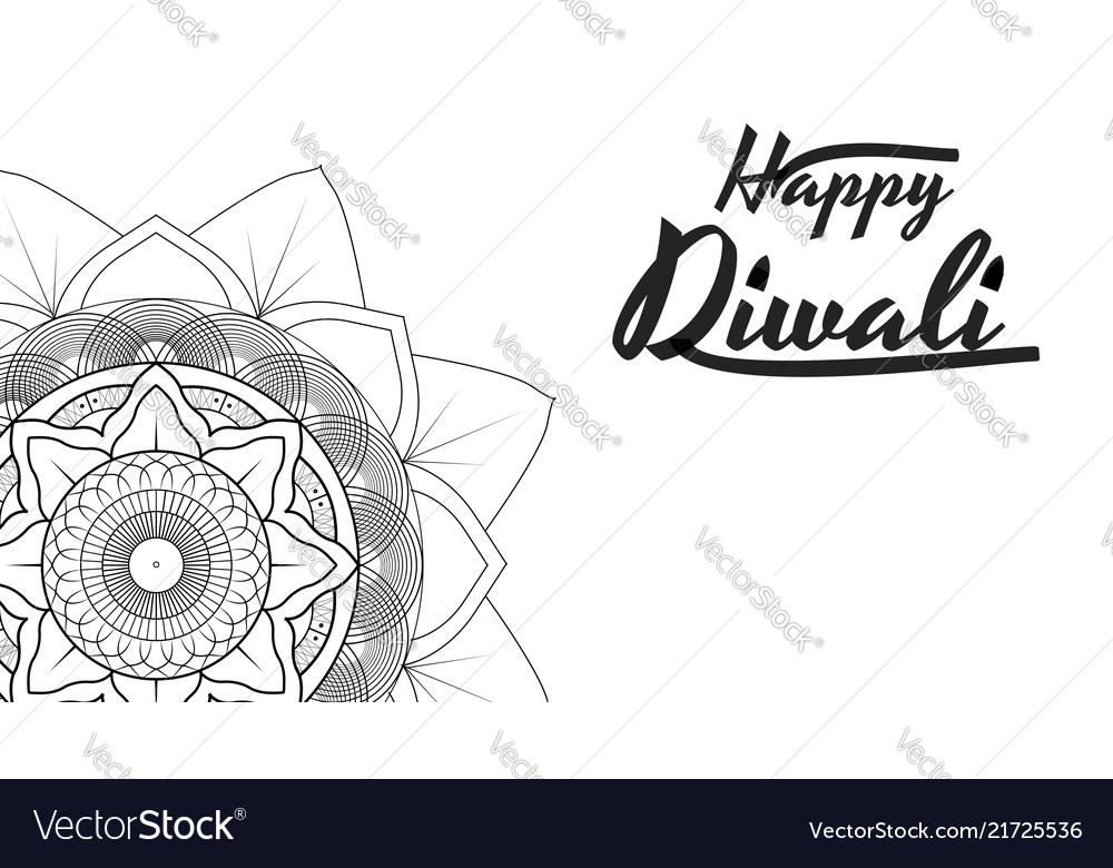 Diwali Festival Greeting Card Flyer Background Vector Image