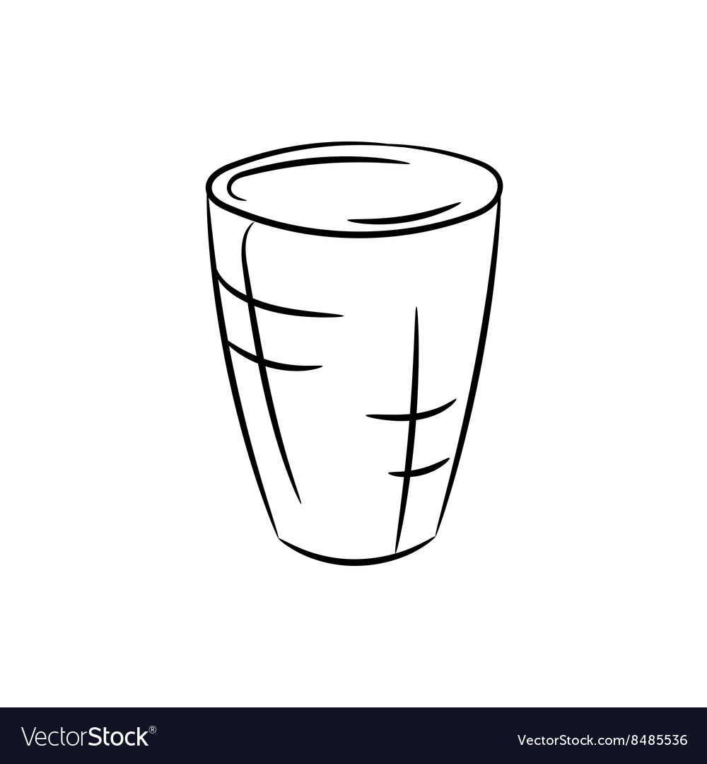 Glass on a white background vector image