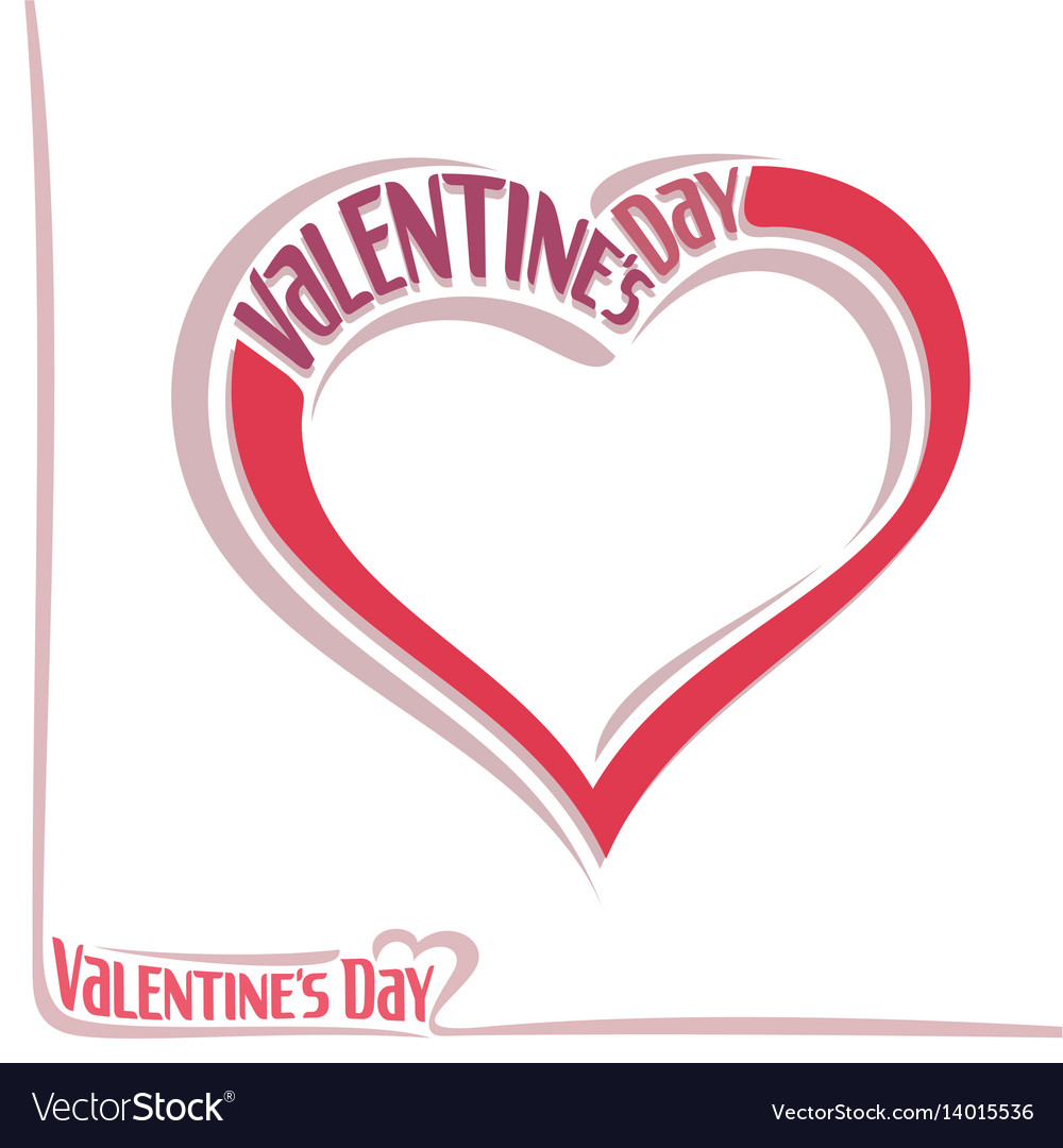 Heart for valentines day vector image