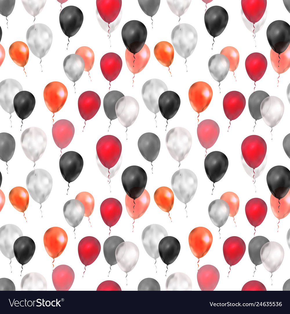 Luxury balloons in red silver and black colours