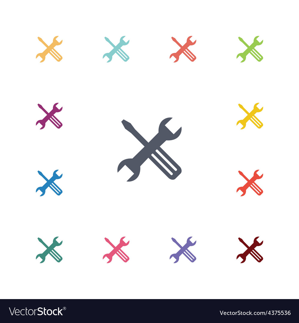 Repair flat icons set vector image