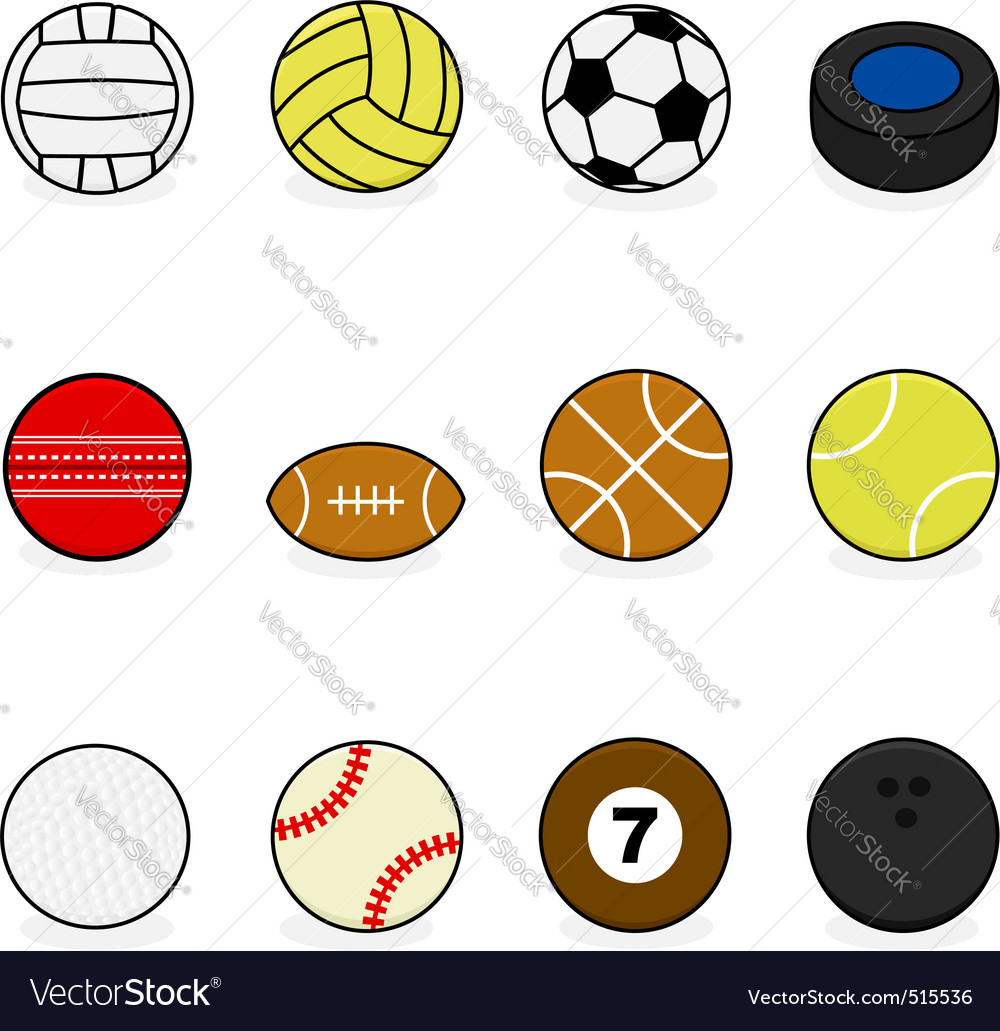 Sports Balls Royalty Free Vector Image Vectorstock