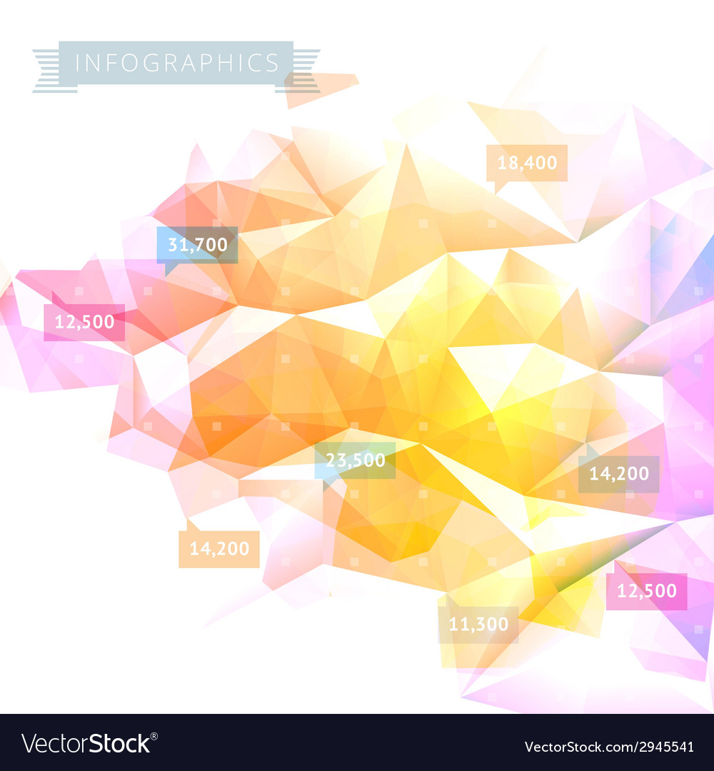 Background low poly infographics