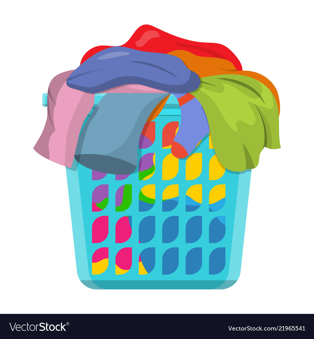 Basket with linens