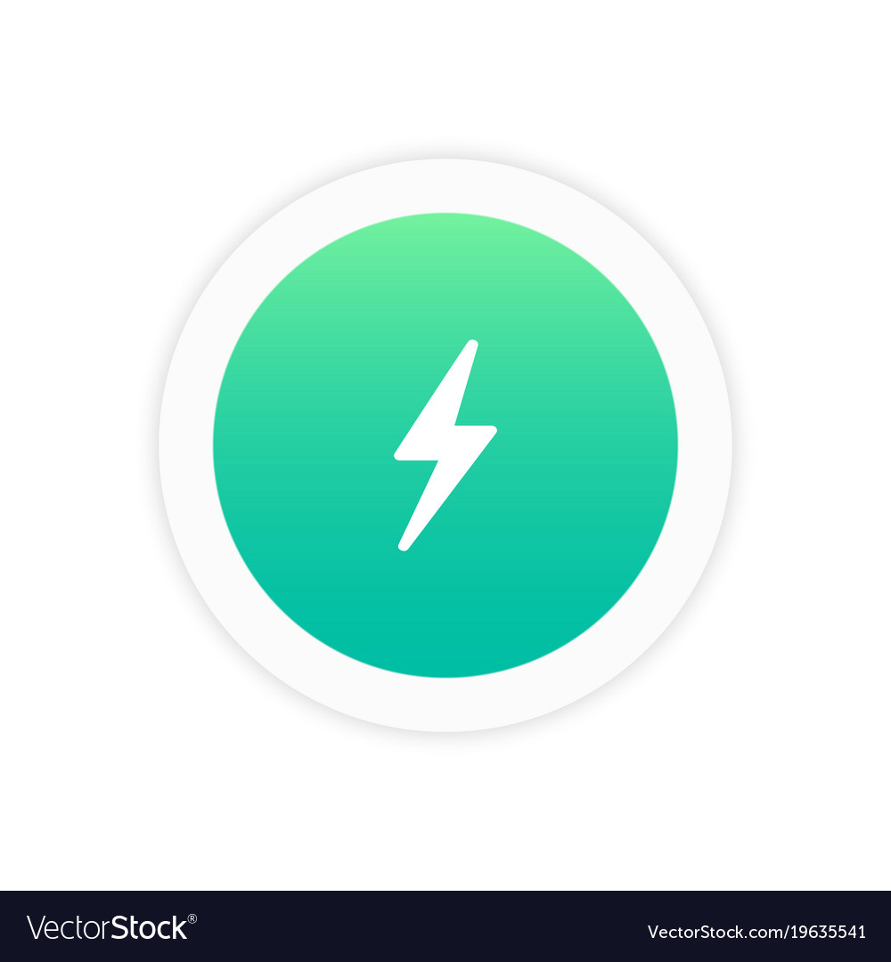 Flash icon sign vector image