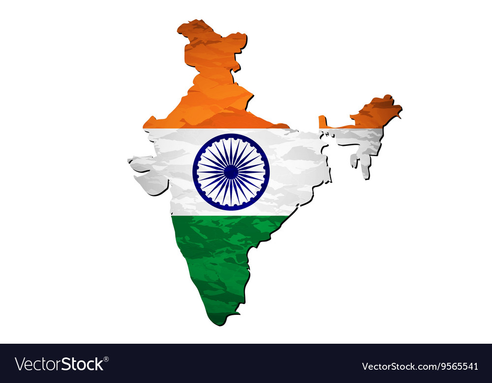 India Map Flag.India Flag Map Royalty Free Vector Image Vectorstock