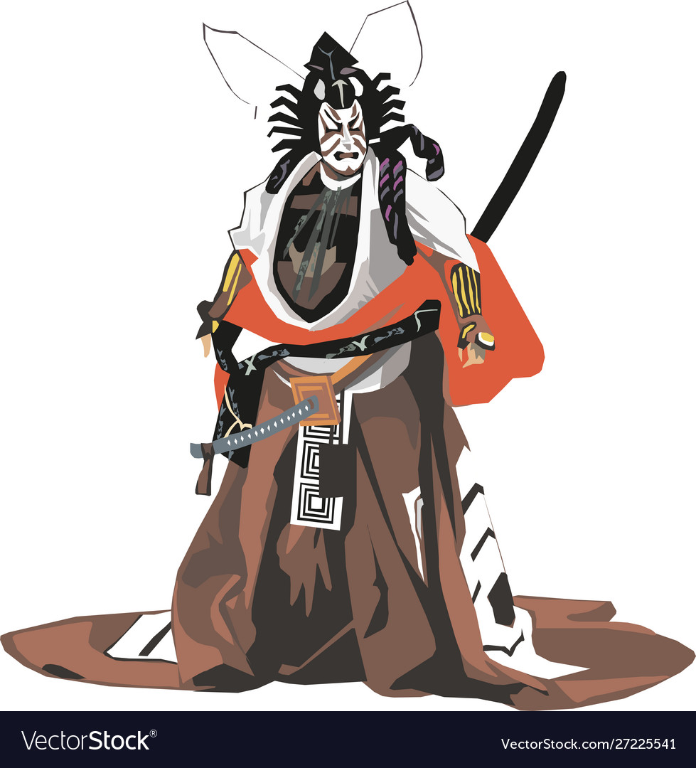 Japanese Samurai Graphic Eps10 Royalty Free Vector Image
