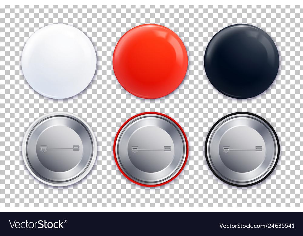 Mockup badge transparent icon set