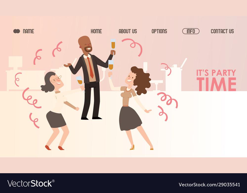 Office party website design