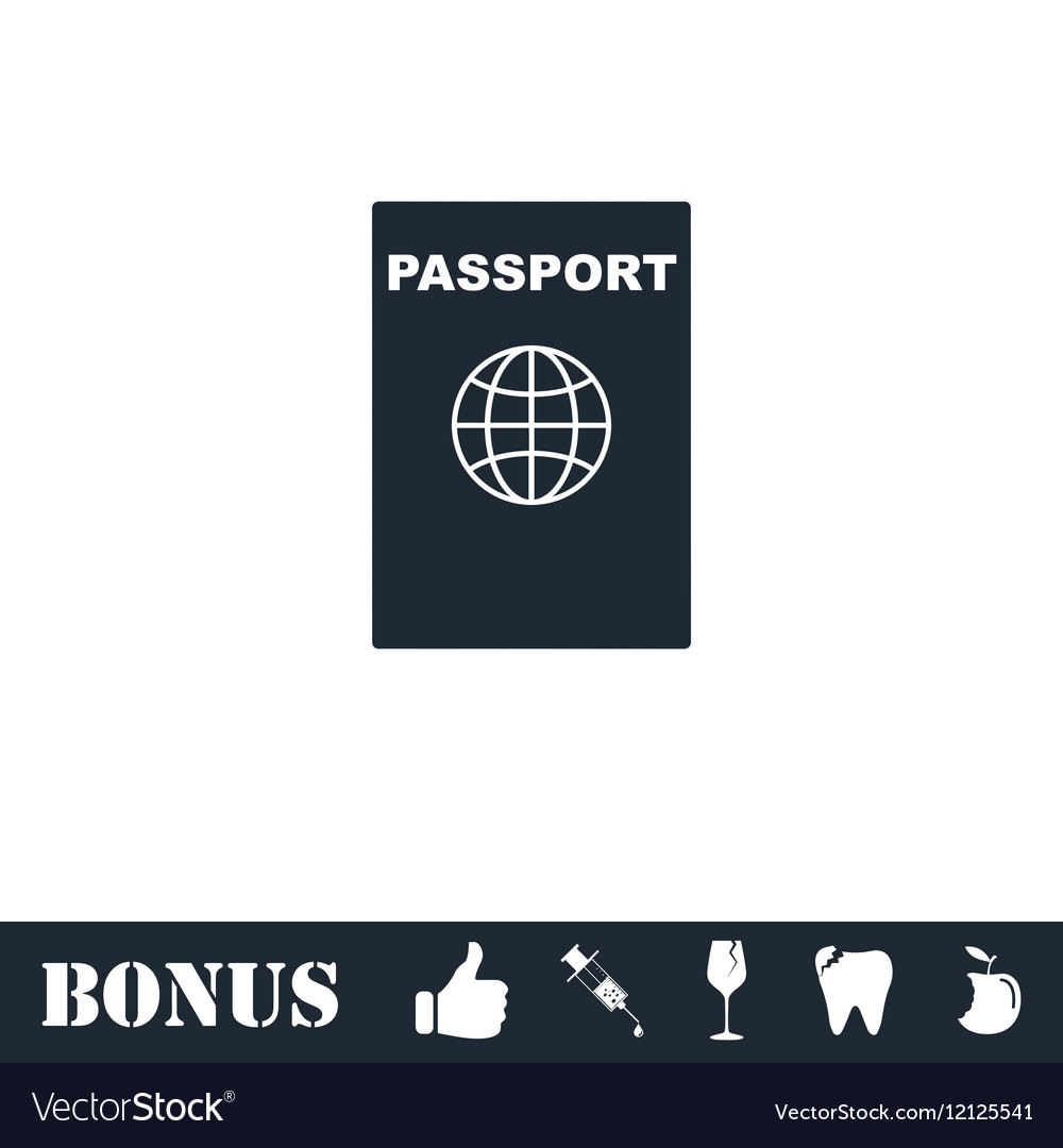 Passport icon flat