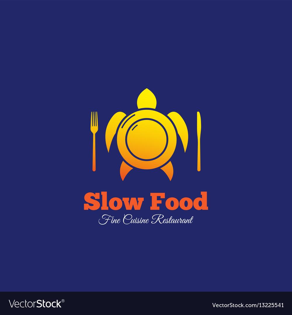 Slow food abstract sign emblem or logo