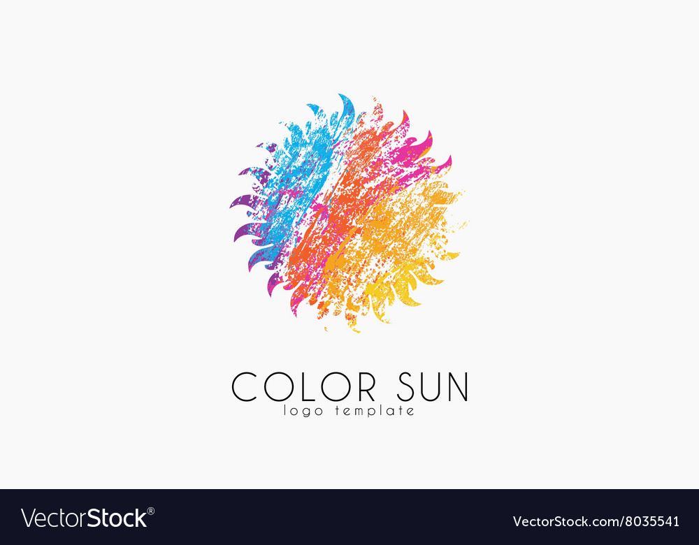 Sun logo design color sun Creative logo Star